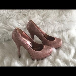 Bakers Shoes - Bakers Sparkly platform high heels